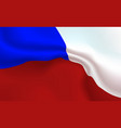 background czech republic flag in folds tricolour vector image vector image