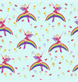 background fairy on a raibow seamless vector image vector image