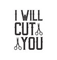 barber shop quote and saying good for print vector image