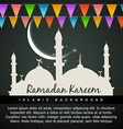 beautiful ramadan kareem background vector image vector image