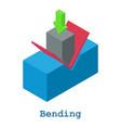 bending metalwork icon isometric 3d style vector image vector image