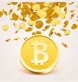 bitcoin cash golden coin vector image