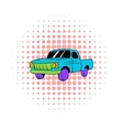 Blue pickup icon comics style vector image