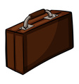 Brown attache case vector image vector image
