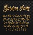 calligraphic golden letters vintage elegant gold vector image vector image