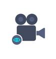 cam camera film movie record view icon vector image