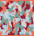 camouflage seamless pattern in a brown orange vector image vector image