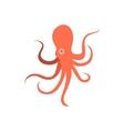 cartoon octopus monster octopus vector image vector image