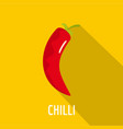 chilli pepper icon flat style vector image vector image