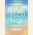 Christmas on beach poster