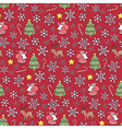 Christmas pattern red vector image vector image