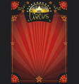 circus retro red poster vector image vector image