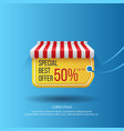 design sale banner with tag vector image vector image