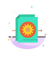 document file gear settings abstract flat color vector image vector image