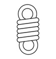 double spring coil icon outline style vector image