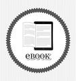 e-book concept vector image vector image
