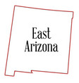 east arizona vector image