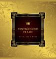 exclusive vintage frame and background vector image