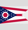 flag of the us state of ohio detailed vector image