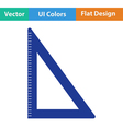 Flat design icon of Triangle vector image vector image
