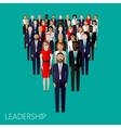 flat of leader and team group of vector image