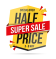 Half Price Super Sale Banner vector image vector image
