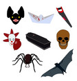 halloween pictures set vector image