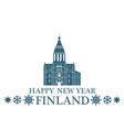 Happy New Year Finland vector image vector image