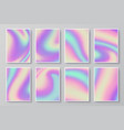 hologram textures iridescent holographic vector image