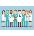 Hospital medical staff team doctors nurses surgeon vector image vector image