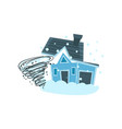 house destroyed by hurricane property insurance vector image