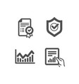 infochart certificate and approved shield icons vector image vector image