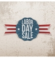 Labor Day Sale paper Tag vector image vector image