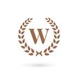 Letter w laurel wreath logo icon design template vector image vector image