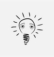 lightbulb eyes icon vector image