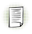 Lined paper comics icon vector image vector image
