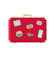 luggage for long traveling and journey vector image vector image