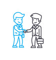 making a deal linear icon concept making a deal vector image