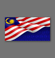 malaysian patriotic festive background template vector image
