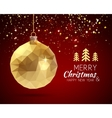 Merry Christmas Happy New Year trendy triangular vector image vector image