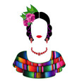 mexican woman with mayan dress latin ethnicity vector image vector image
