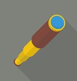 Monocular in flat style with long shadow vector image vector image
