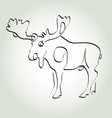 Moose in minimal line style vector image
