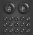 plastic button set vector image vector image
