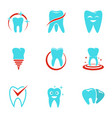 polyclinic icons set flat style vector image