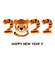 postcard tiger happy new year 2022 for graphic vector image vector image