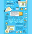 poster for online global security vector image vector image