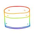 rainbow gradient line drawing cartoon pot vector image vector image