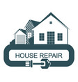repair and construction of a house vector image vector image