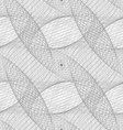 Repeating black and white curved grid pattern vector image vector image